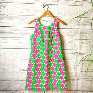 Lilly Pulitzer Crochet Floral Dress Lined